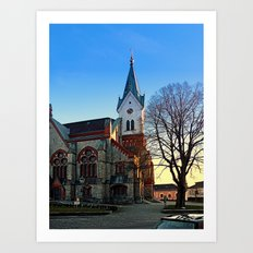 The village church of Aigen III | architectural photography Art Print