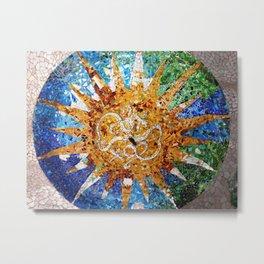 Barcelona, Spain. Parque Guell Mosaic. Metal Print
