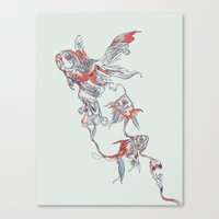huebucket Canvas Prints featuring Floating in Deep by Huebucket