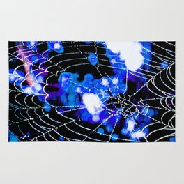 Spider Love Blues Rug