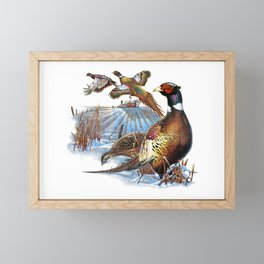 Pheasant Farm Framed Mini Art Print