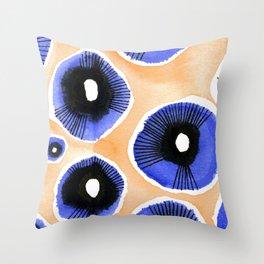Poppy Eyed Throw Pillow