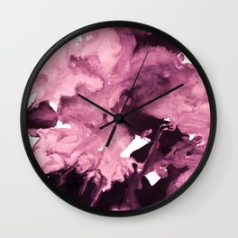 inkblot marble 6 Wall Clock