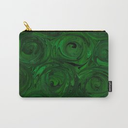 Emerald Green Roses Carry-All Pouch