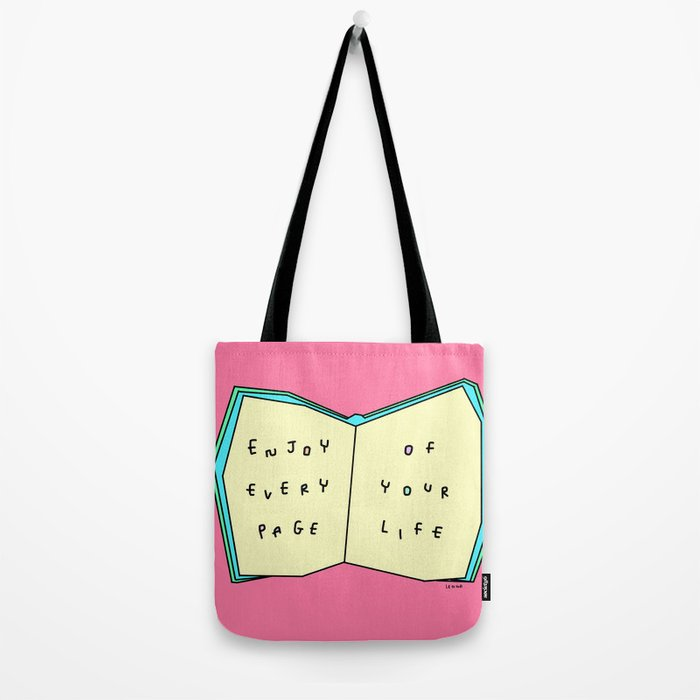 Words from a Colorful Book - inspirational quote illustration Tote ...