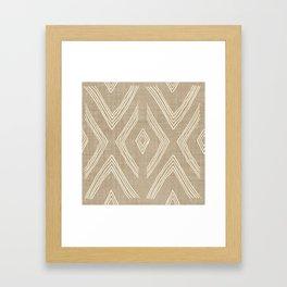 Birch in Tan Framed Art Print