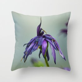 violet color Throw Pillow