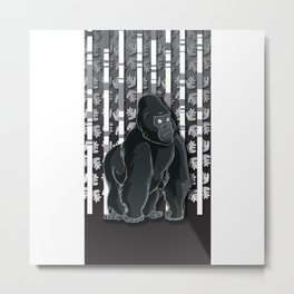 Lonely Gorilla In The Mountain High Metal Print