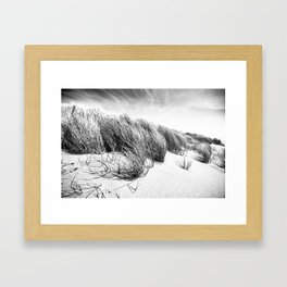 Sea and Sand, Kellogg Beach Dunes, Crescent City, Del Norte, California Framed Art Print