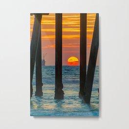 The Melting Sun Metal Print