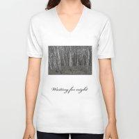 unicorns V-neck T-shirts featuring Unicorns by iKRGeu
