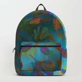 Ginkgo Leaves Under Water Backpack