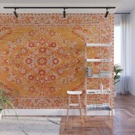 N78 - Orange Antique Oriental Berber Moroccan Style Carpet Design. Wall Mural