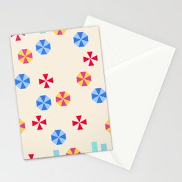 Beach Parasols Stationery Cards