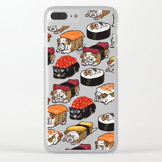 Sushi English Bulldog Clear iPhone Case