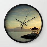 serenity Wall Clocks featuring serenity by Dirk Wuestenhagen Imagery
