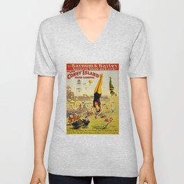 The Great Coney Island Water Carnival – Barnum & Bailey Circus Poster Unisex V-Neck