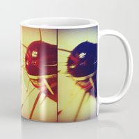 mask Mugs featuring mask by eduardo vargas