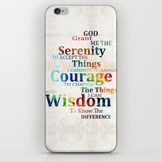 Colorful Serenity Prayer by Sharon Cummings iPhone & iPod Skin