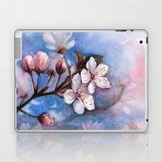 Cherry Blossoms Watercolor Spring Flowers Laptop & iPad Skin