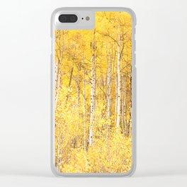 Golden Apen Trees Clear iPhone Case
