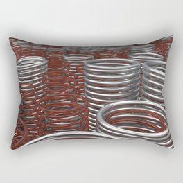 Glass and metal springs and coils Rectangular Pillow