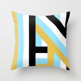 MODERN BLUE LINES PATTERN Throw Pillow