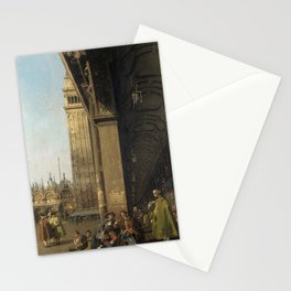 Venice, The Piazza San Marco by Canaletto Stationery Cards