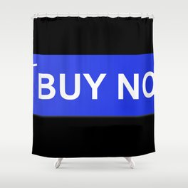 Buy Now Blue Shower Curtain