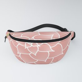 Abstract Modern Pink Rose Flower Fanny Pack