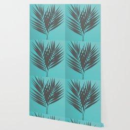 Palm Leaves #1 #Mint #decor #art #society6 Wallpaper
