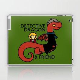 detective dragon & friend - sherlock hobbit parody Laptop & iPad Skin
