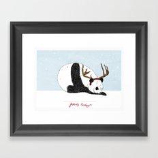 Festive Panda Framed Art Print