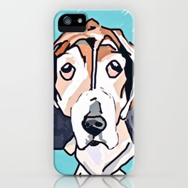 Basset Hound Dog Portrait iPhone Case