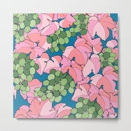 Pink Grapes Metal Print