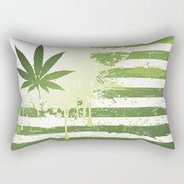 Weed USA Flag Rectangular Pillow