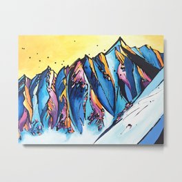 The Chugach Metal Print