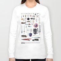 bands Long Sleeve T-shirts featuring Famous Weapons by Daniel Nyari
