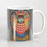 dalek Mugs featuring Dalek Nouveau by Mareve Design