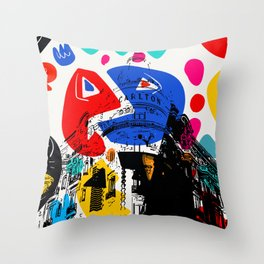Cannes French Riviera Croisette Carlton Art Throw Pillow