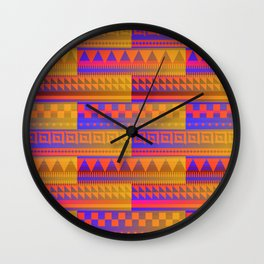 Southwest Sizzling Shapes Wall Clock