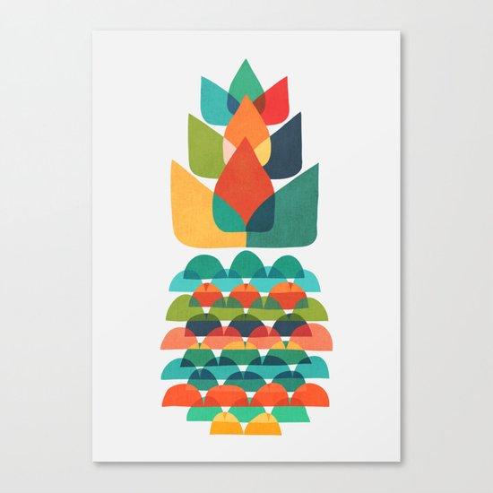 Colorful Whimsical Ananas Canvas Print