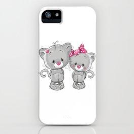 Cat Couple iPhone Case