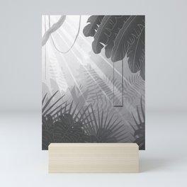 Black and White jungle Mini Art Print