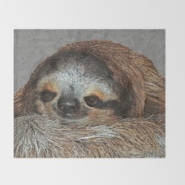 SLOTH LOVE Throw Blanket