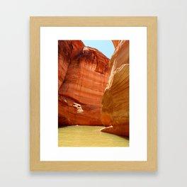 Antelope Canyon On Lake Powell Framed Art Print