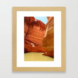 Antelope Canyon On Lake Powell Framed Art Print