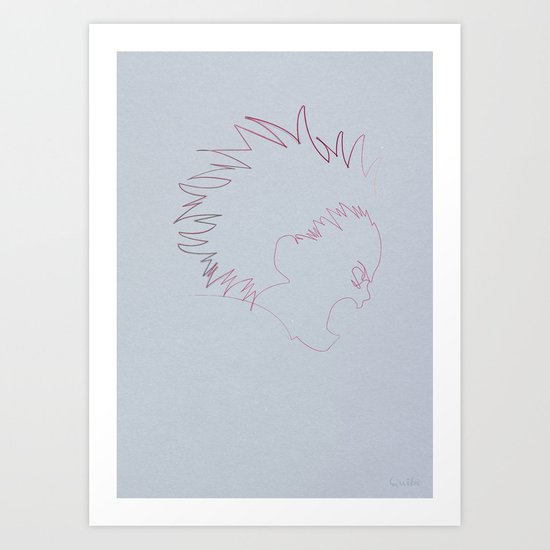 One Line Akira: Tetsuo Shima (specimen 41) Art Print