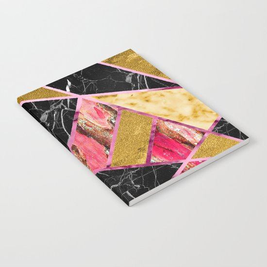 Abstract #456 Marble & Gold Notebook