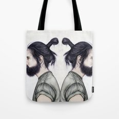 Beard & Top Knot Tote Bag